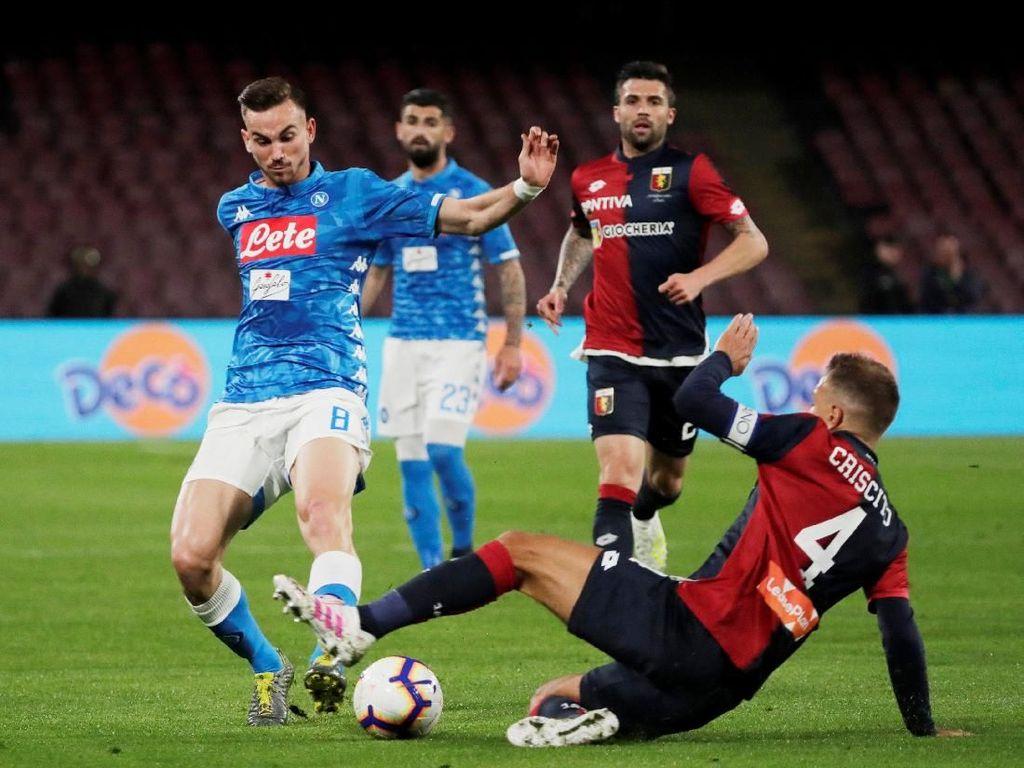 Hasil Liga Italia: Napoli Seri Lawan 10 Pemain Genoa