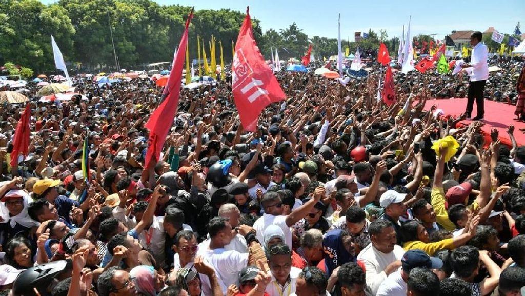Kampanye di Kupang, Jokowi Pamer Bangun 7 Bendungan