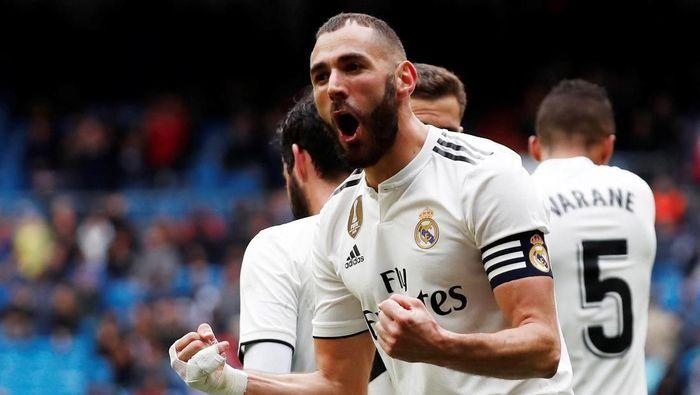 Karim Benzema jadi top skorer Real Madrid di Liga Spanyol musim ini (Foto: Javier Barbancho/Reuters)