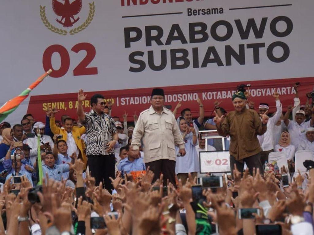 Meriahnya Kampanye Prabowo di Stadion Kridosono Yogya