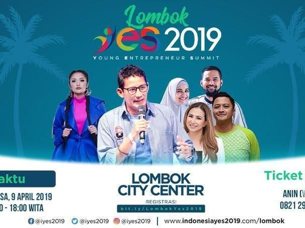 Saksikan Live Streaming Lombok YES 2019 di detikcom!