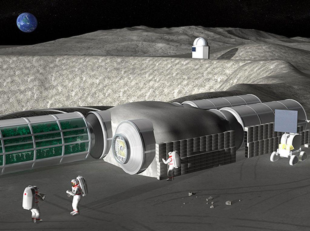 Astronaut Bisa Pakai Air Kencing untuk Bangun Rumah di Bulan