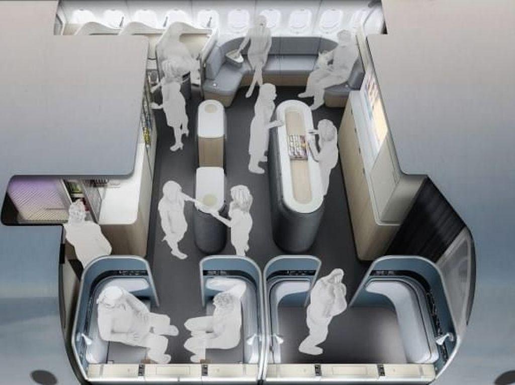 Begini Desain Kabin Pesawat di Masa Depan yang Anti Bosan