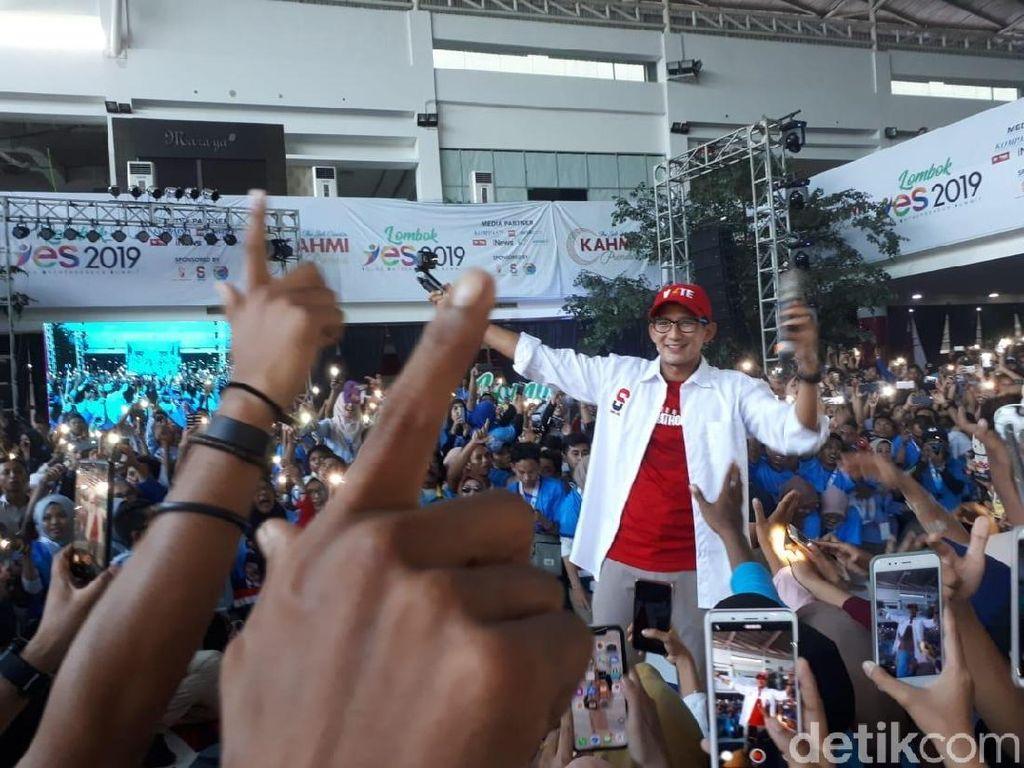 Di Lombok, Sandiaga: 17 April Jangan Lupa TPS, Tusuk Prabowo Sandi