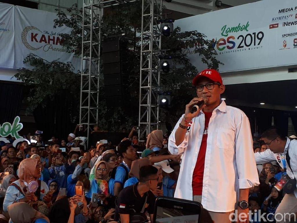 Sandiaga Nge-Dance, Milenal Lombok Peserta YES 2019 Histeris