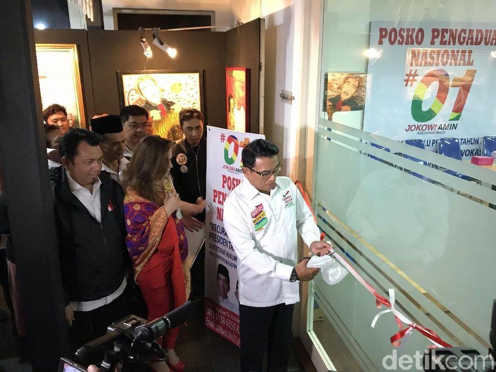 Moeldoko Resmikan Posko Pengaduan Nasional TKN Jokowi-Maruf