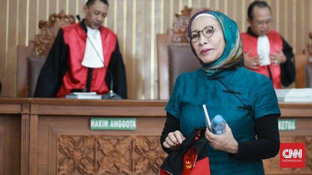 Terdakwa kasus penyebaran hoaks Ratna Sarumpaet di PN Jakarta Selatan.