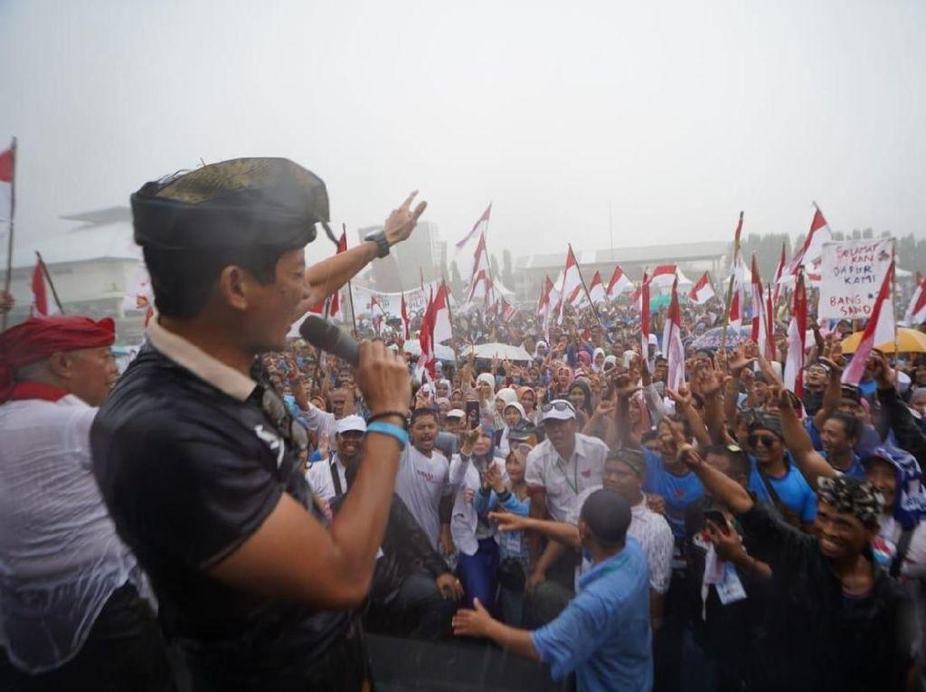Sandi Setop Kampanye di Bali Karena Hujan, Penyebab Masuk Angin?