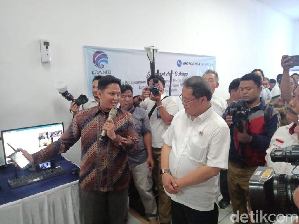 Menkominfo Uji Frekuensi Khusus Kebencanaan di Pangandaran