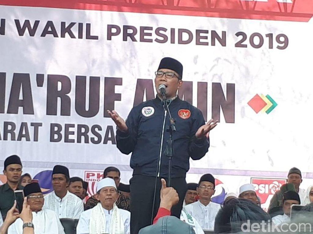 Ridwan Kamil di Kampanye Maruf: Mau Umrah? Menangkan Dulu 01
