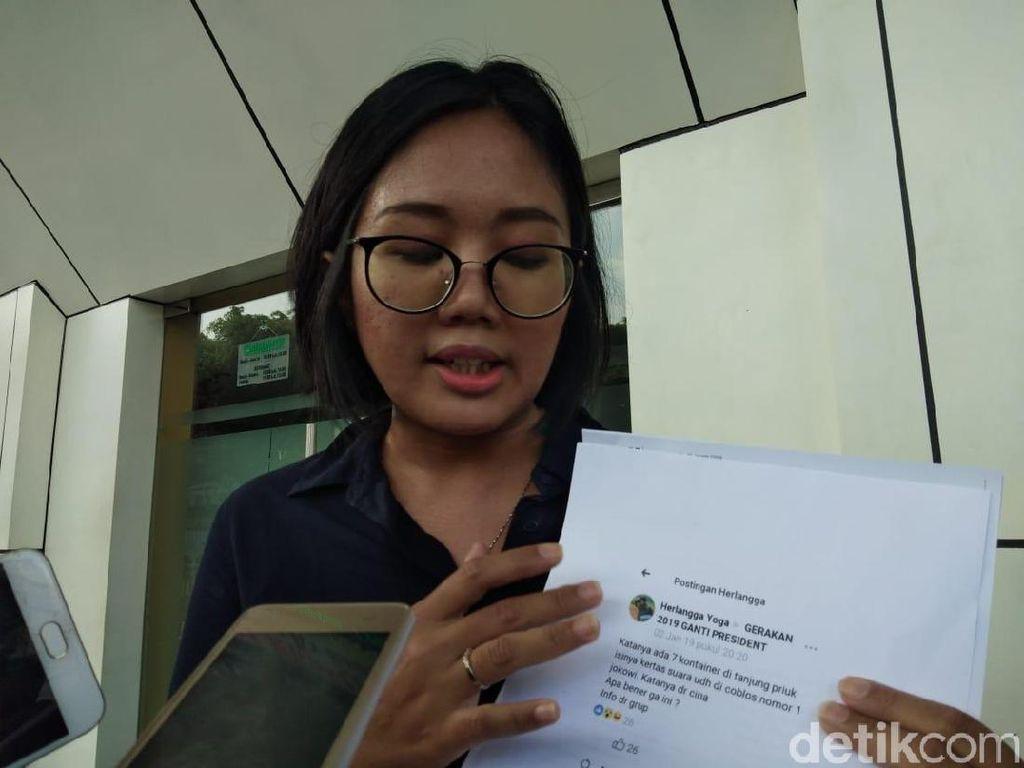 Tersangka Hoax 7 Kontainer Surat Suara Tercoblos Ajukan Praperadilan