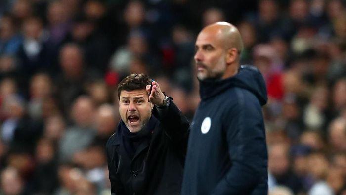 Mauricio Pochettino menyebut Manchester City bisa menangi quadruple musim ini, jelang pertemuan Tottenham Hotspur vs Manchester City di Liga Champions (Clive Rose/Getty Images)