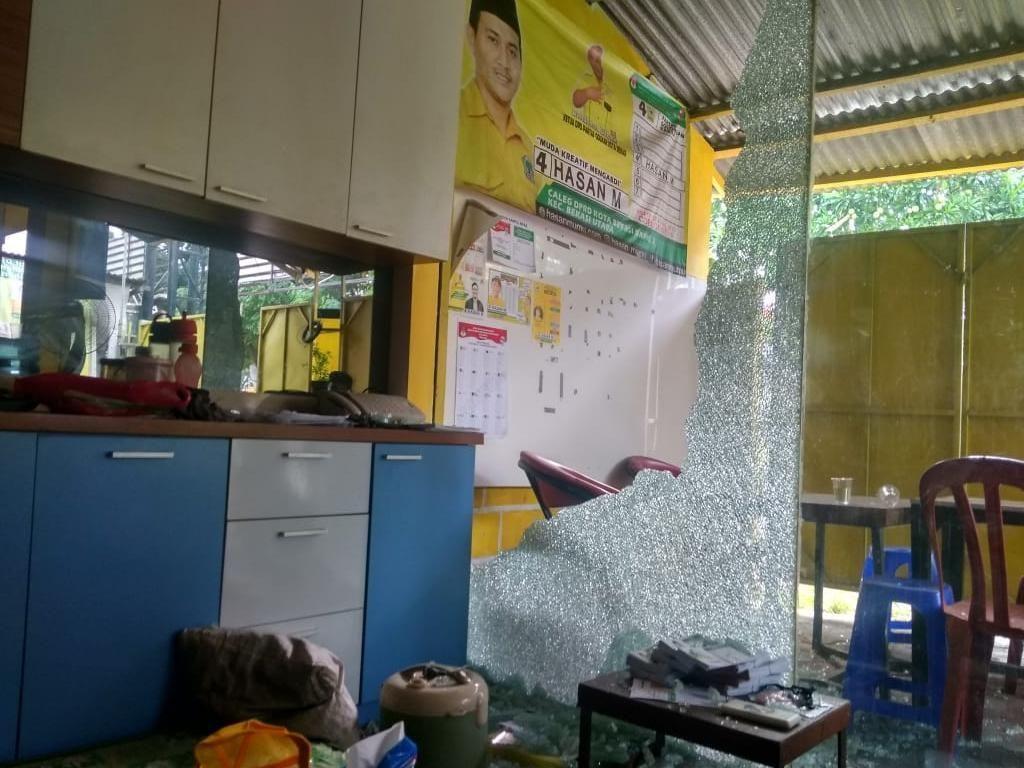 Posko Caleg Golkar di Bekasi Diduga Diserang OTK, Ini Kata Polisi