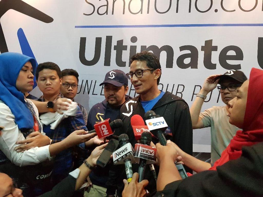 BPN Klaim Massa Kampanye Lebih Banyak, Sandiaga: Warga Rindu Prabowo