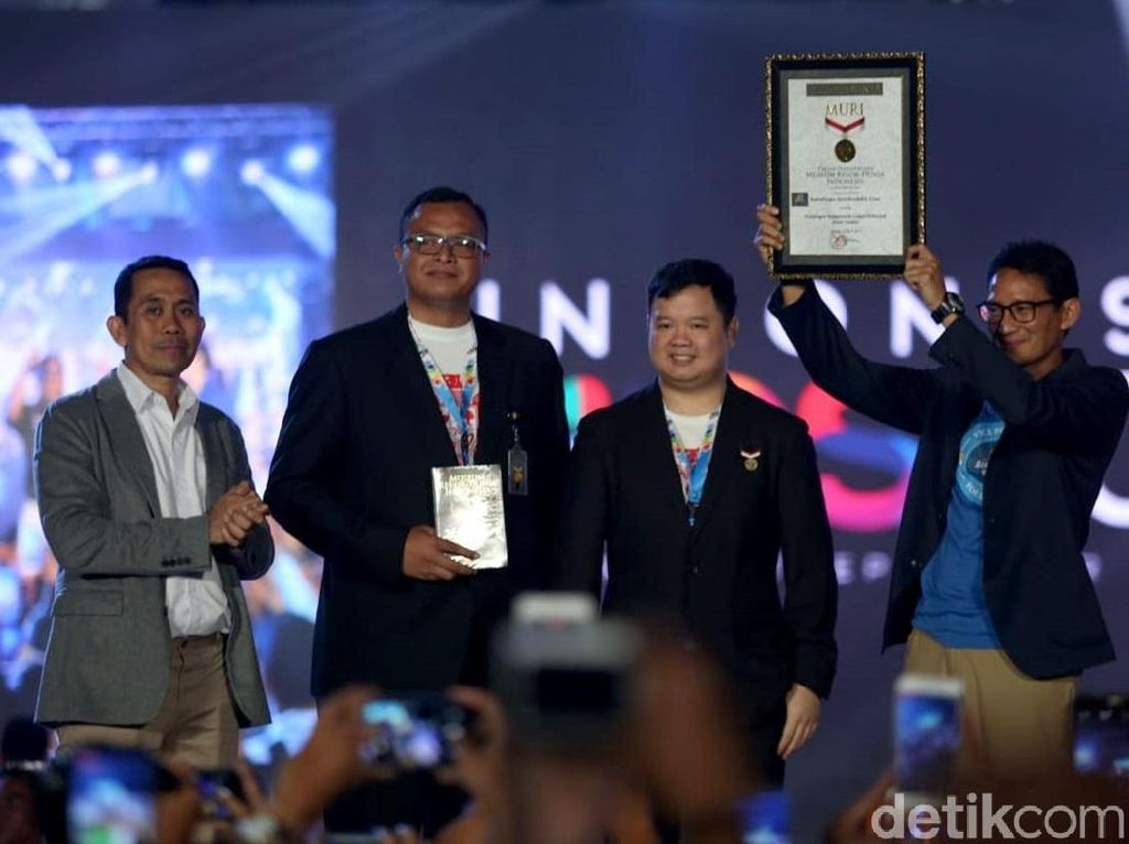 Sandi Catatkan Rekor Muri Blusukan ke 1.500 Titik di Indonesia