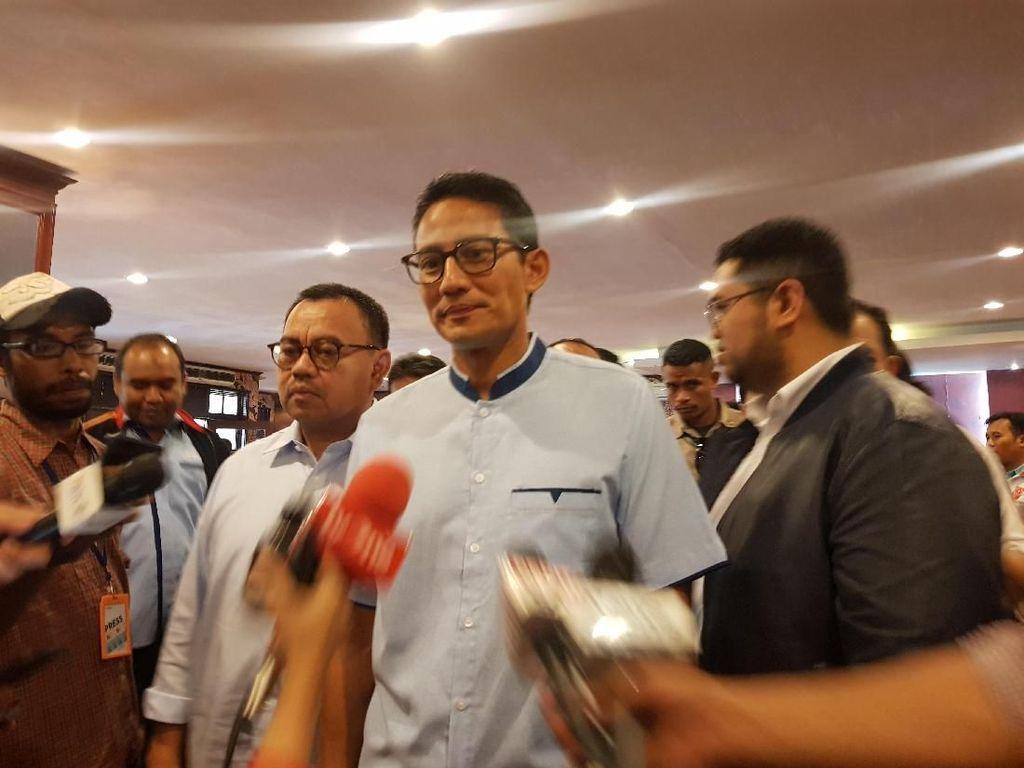 Jarang Jumpa Jelang Debat, Sandi Rutin Teleconference dengan Prabowo