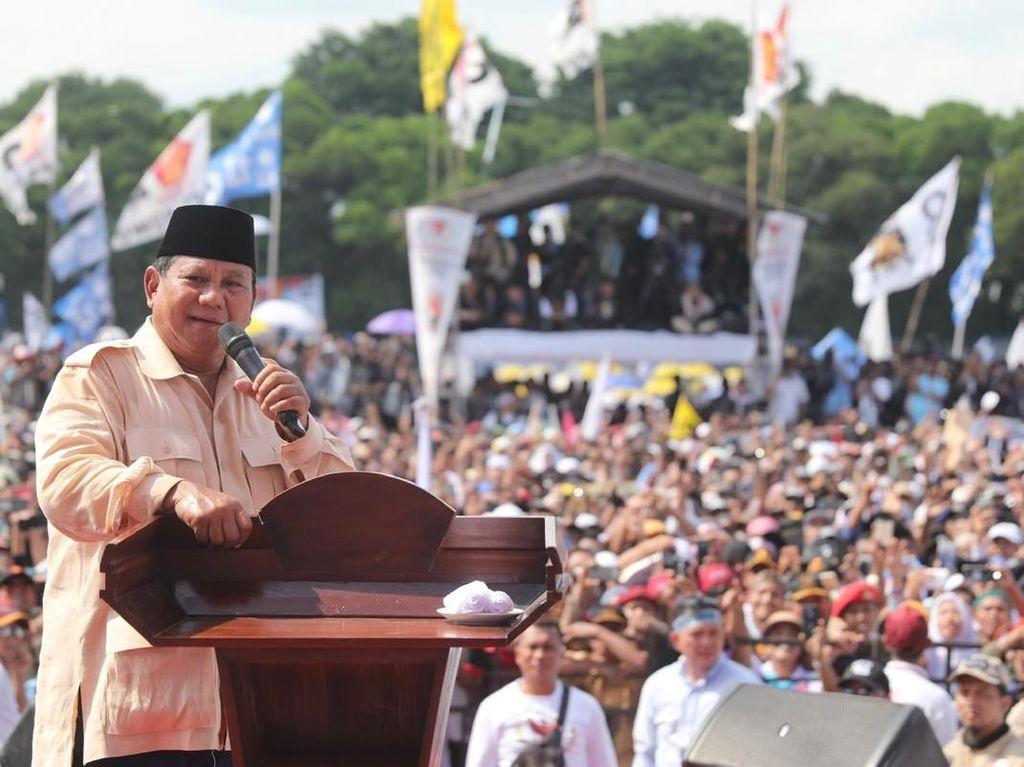 Prabowo Bicara Wajah Intel di Kampanyenya: yang Lain Ketawa Dia Nggak