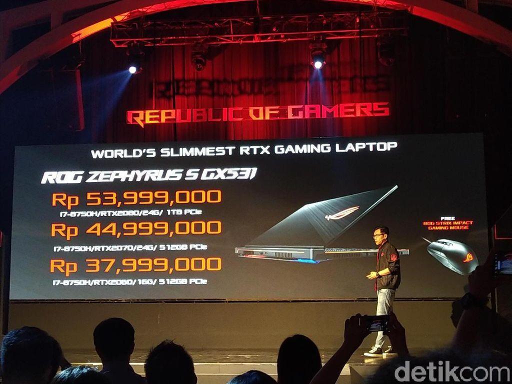 Laptop Gaming RTX Tertipis Asus Harganya Tembus Rp 50 Jutaan