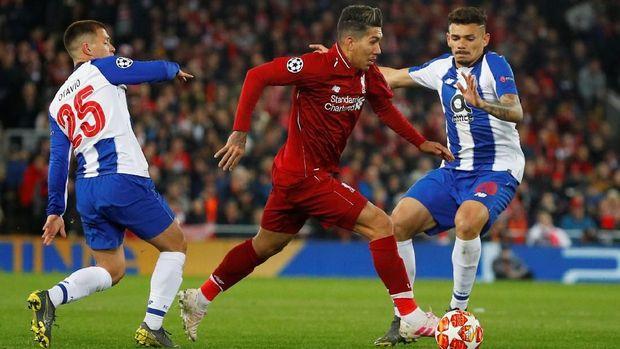 Roberto Firmino jadi bintang Liverpool lawan Porto.