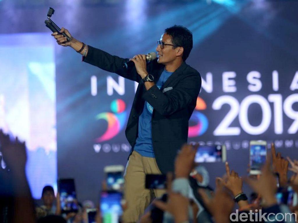 Momen Sandiaga Ngevlog di Indonesia YES 2019 Jakarta
