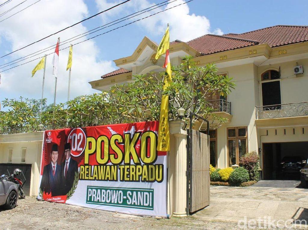Rumah Eks Ketua Golkar Wonosobo Jadi Posko Pemenangan Prabowo