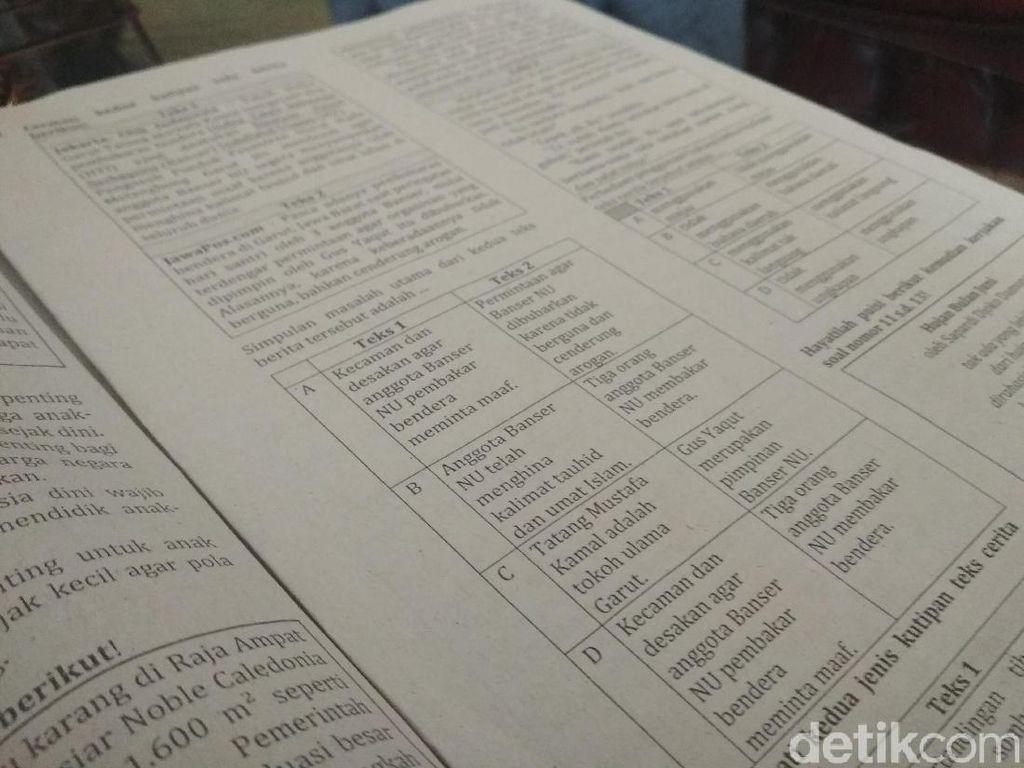 Guru Pembuat Soal Ujian Bubarkan Banser Terancam Dipecat