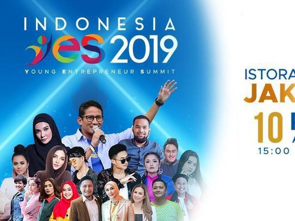 Milenial Tak Sabar Tunggu Sandiaga hingga Zaskia Sungkar di YES 2019