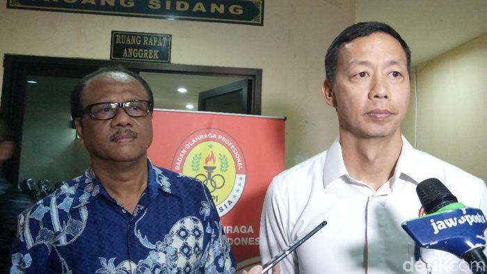 Richard Sam Bera, ketua BOPI (kanan) (Amalia Dwi Septi/detikSport)