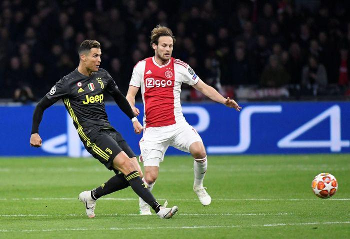 Juventus bertemu dengan Ajax Amsterdam pada leg pertama perempatfinal Liga Champions. Piroschka Van De Wouw/Reuters.