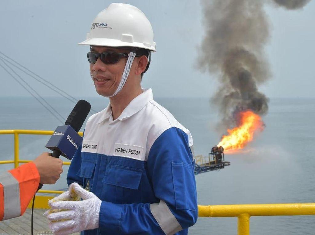 Arcandra Kupas Masalah Migas Indonesia di Atas Rig Blok Pangkah