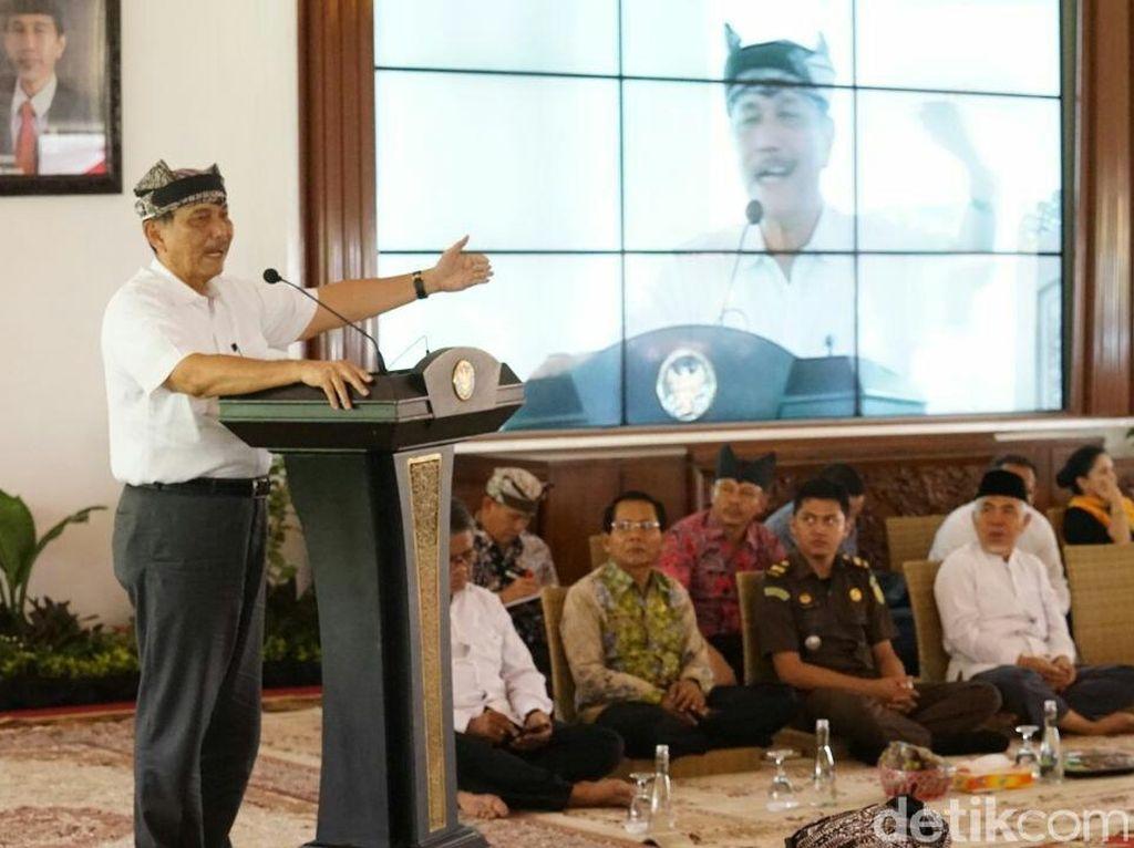 Luhut Minta Bupati Hingga TNI Sukseskan Pemilu agar Tak Ada Golput