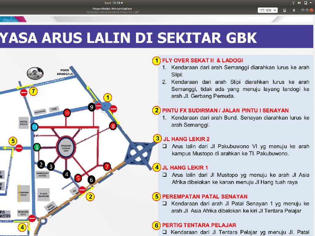 Ini Rekayasa Lalin di GBK Saat Kampanye Akbar Jokowi Sabtu 13 April