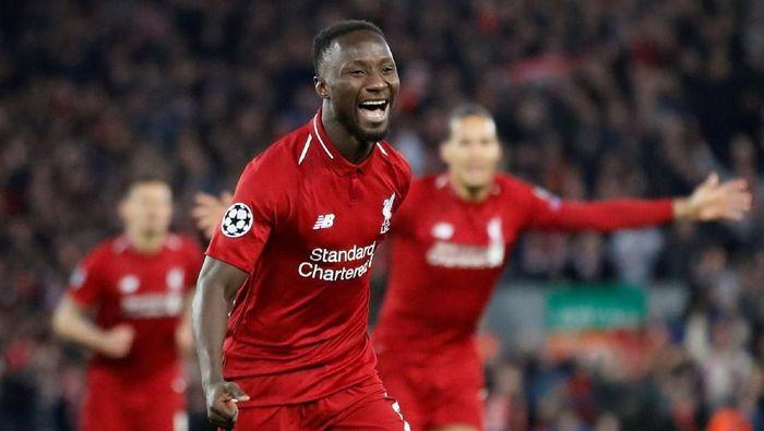 Naby Keita cedera saat latihan dan terancam absen saat Liverpool bertemu Chelsea di Piala Super Eropa (Carl Recine/Reuters)