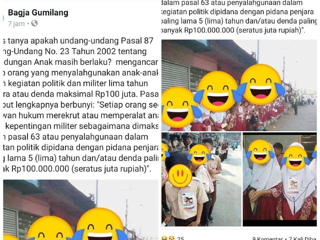 Bocah SD Sukabumi Ditempeli Stiker 01, TKD Jabar: Kami Disudutkan