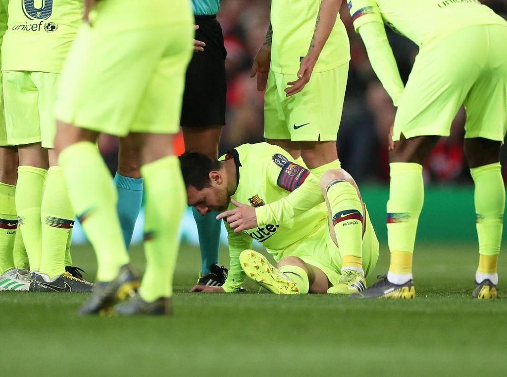 Darah Lionel Messi Mengucur Deras di Old Trafford