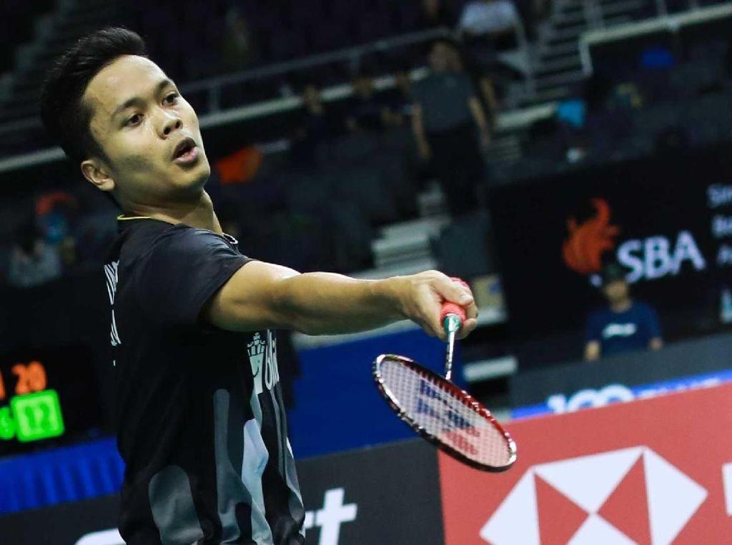 Anthony Jumpa Chen Long di Perempatfinal Singapura Terbuka
