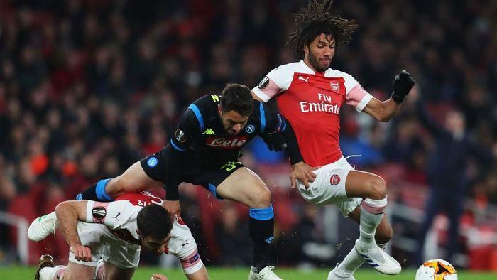 Arsenal menang 2-0 atas Napoli di Emirates Stadium. (Foto: Catherine Ivill/Getty Images)