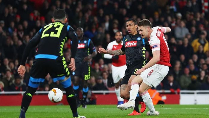 Arsenal melawat ke Napoli dengan keunggulan 2-0. (Foto: Catherine Ivill/Getty Images)