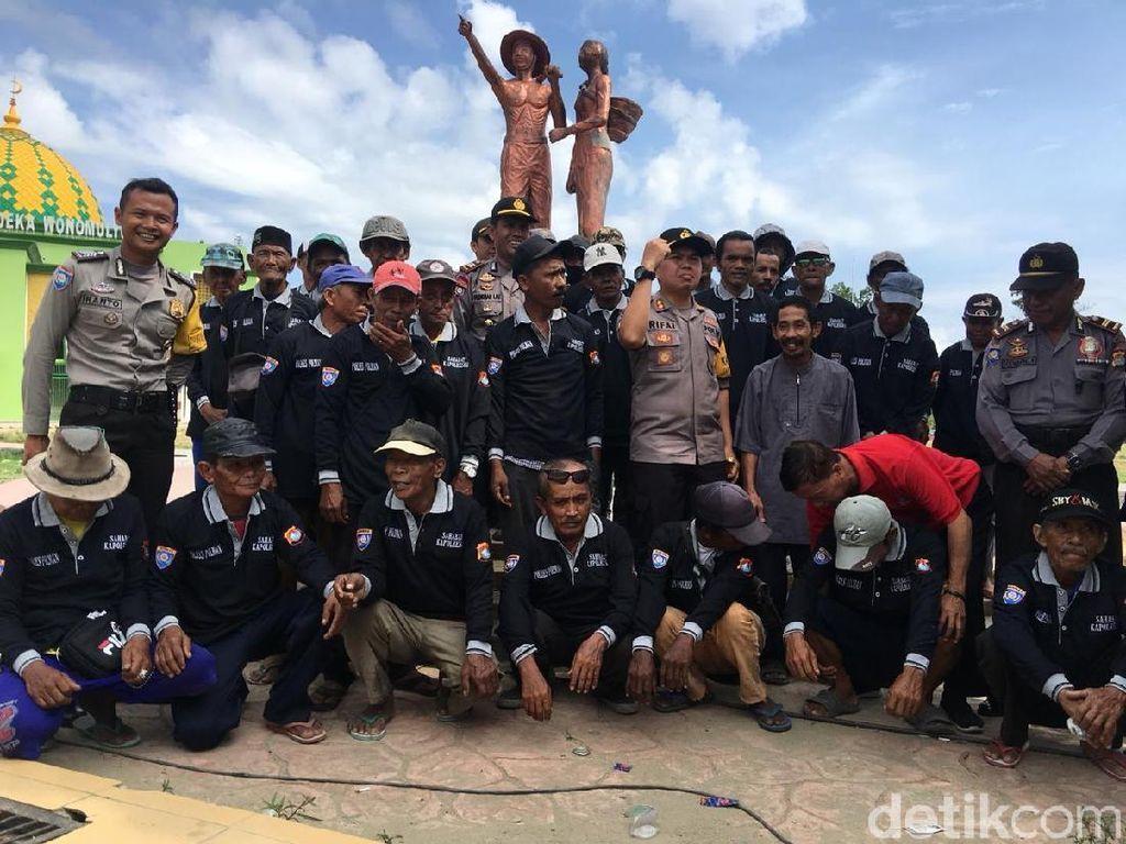 Imbau Jaga Kamtibmas, Polisi di Polewali Beri Hadiah ke Tukang Becak