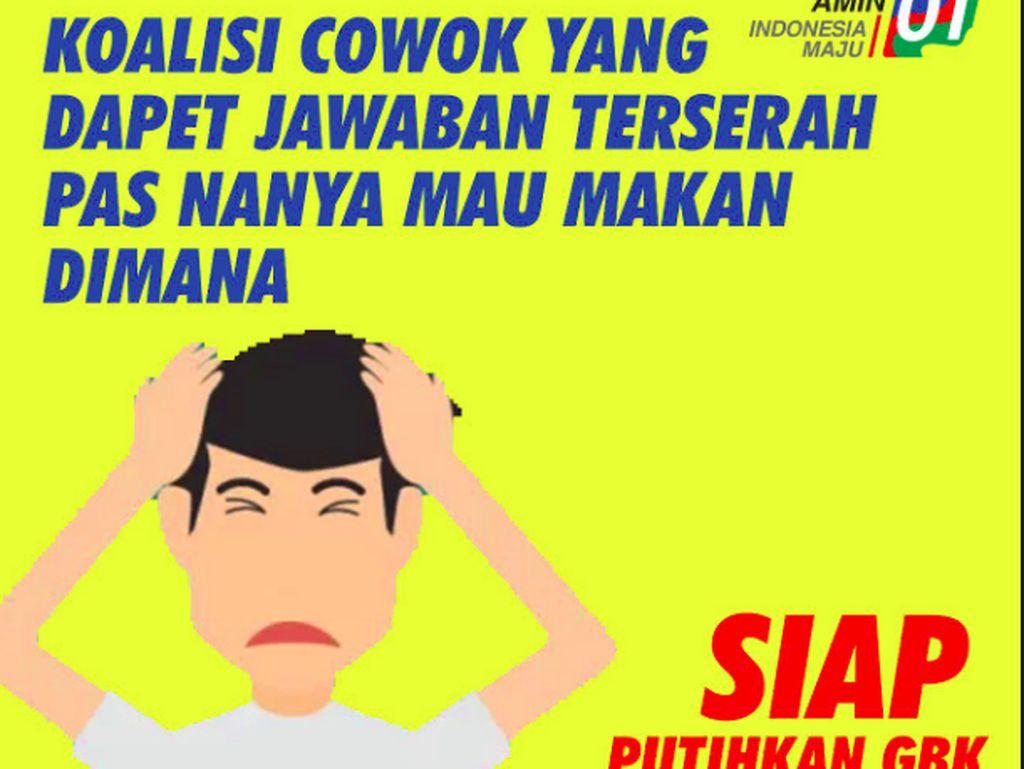Kumpulan Meme Lucu Ramaikan Kampanye Jokowi & Maruf Amin