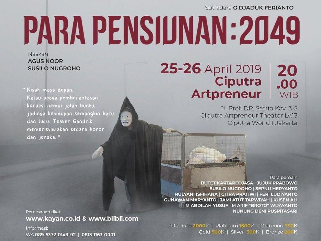 Setelah Yogyakarta, Pertunjukan Para Pensiunan: 2049 Hadir di Jakarta