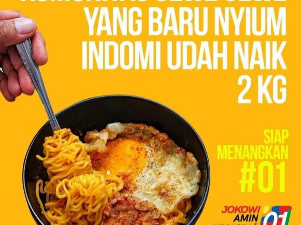 Netizen Kreatif Buat Poster 10 Komunitas Kuliner Unik yang Dukung Jokowi- Amin