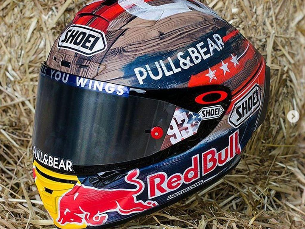 Helm Rodeo Marc Marquez di MotoGP Amerika Serikat