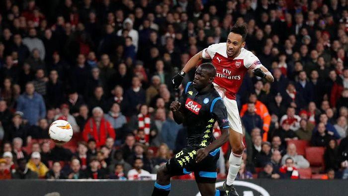 Arsenal melawat ke Napoli dengan keunggulan 2-0 pada leg kedua perempatfinal Liga Europa. (Foto: Matthew Childs/Reuters)