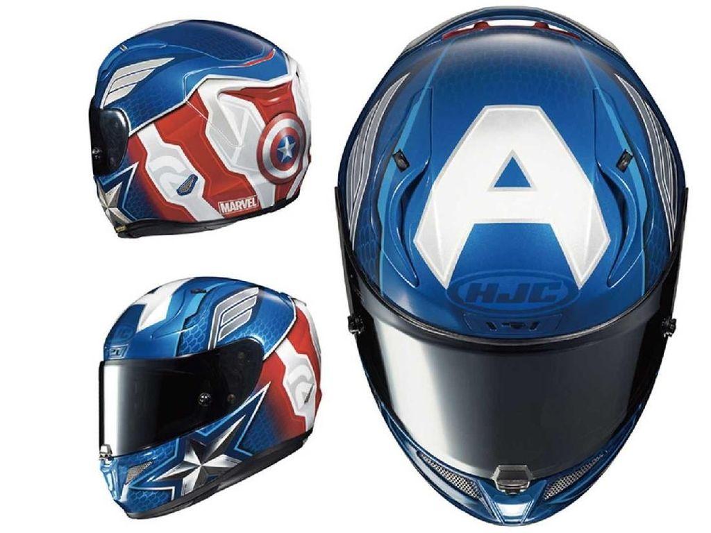 Sambut Avengers: Endgame, HJC Bikin Helm ala Captain America