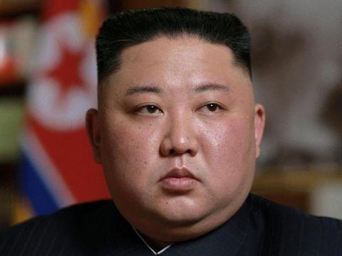 Kim Jong-Un saat menghadiri rapat Majelis Rakyat Tertinggi Korut