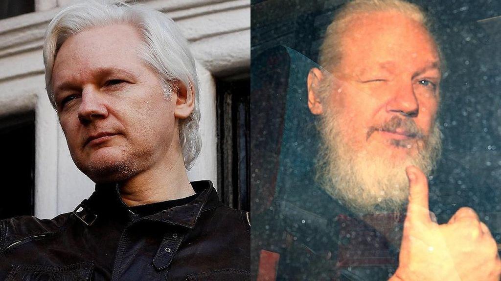 Potret Before-After Julian Assange Sebelum Ditangkap