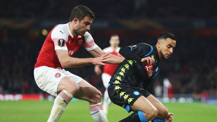 Napoli kalah 0-2 dari Arsenal di Emirates Stadium. (Foto: Catherine Ivill/Getty Images)