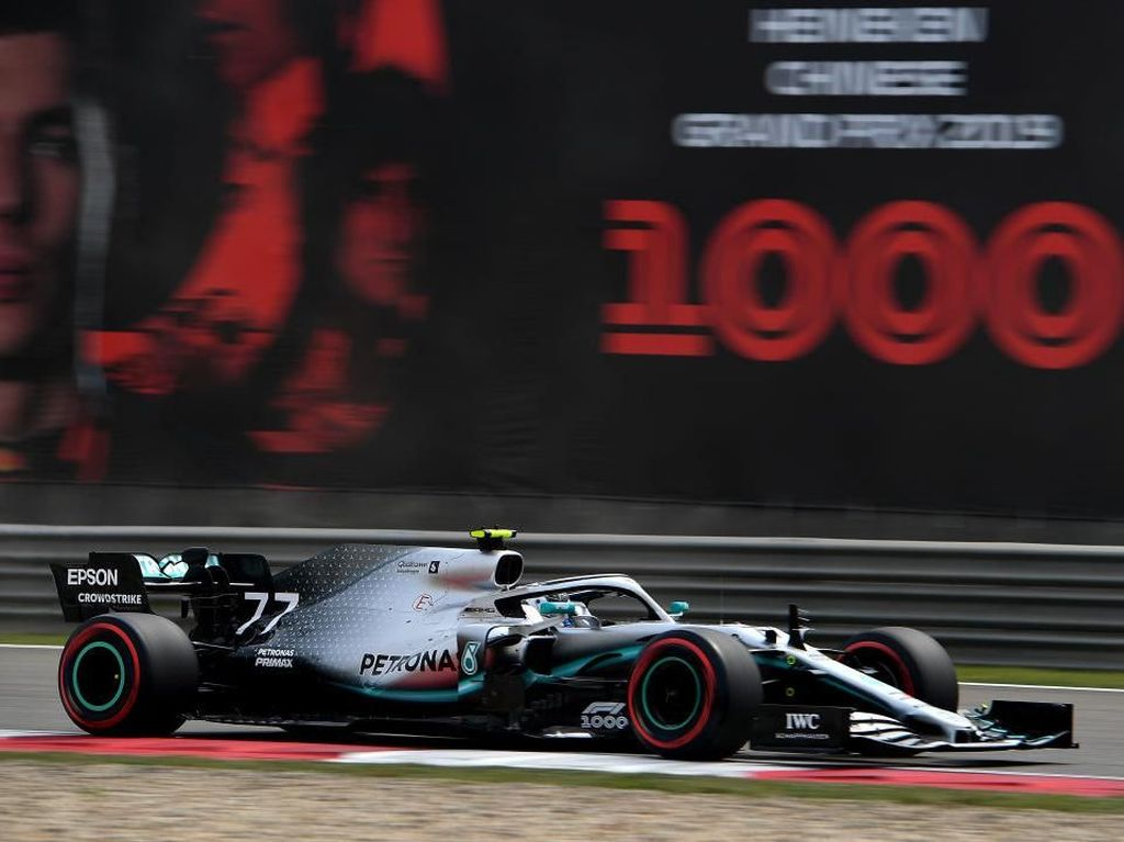 Unggul Tipis atas Hamilton, Bottas Rebut Pole GP China