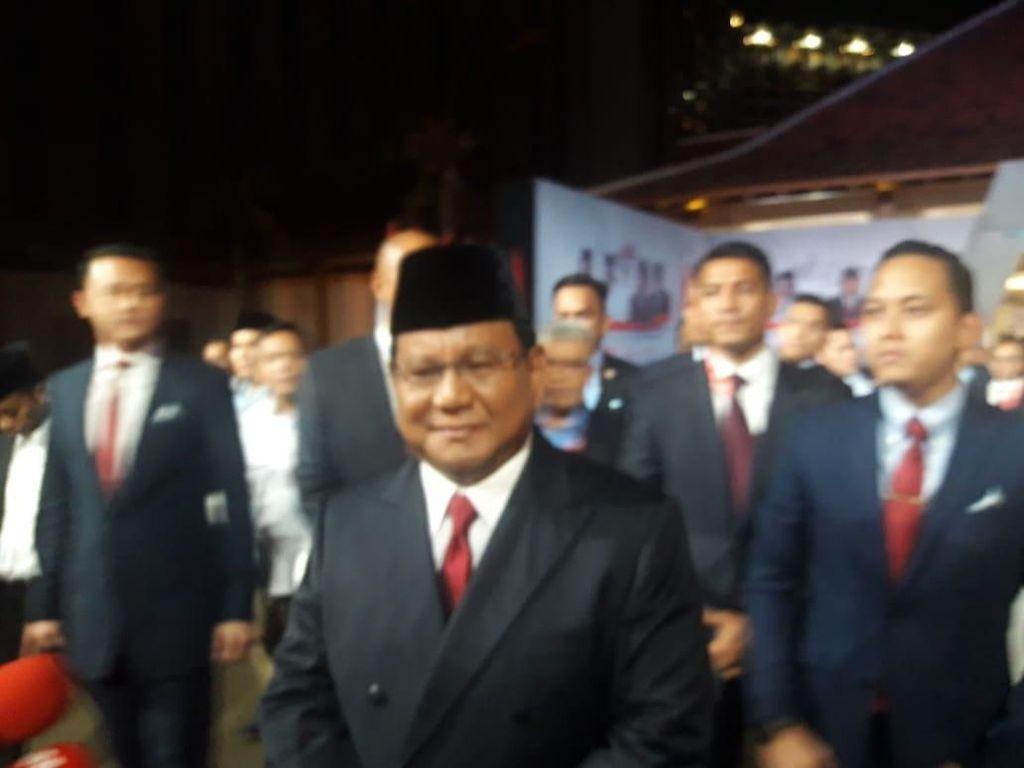 Prabowo Tiba di Lokasi Debat Kelima
